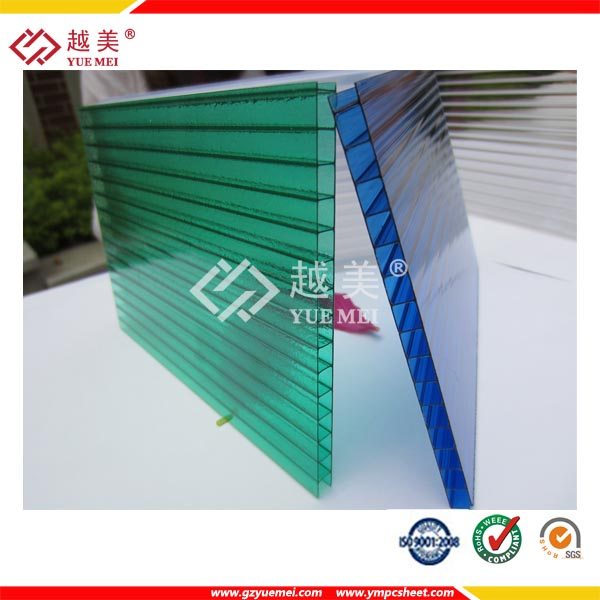 double layer polycarbonate hollow plastic roof sheet