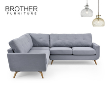 Lasted cheap modern furniture European style fabric sectional sofa