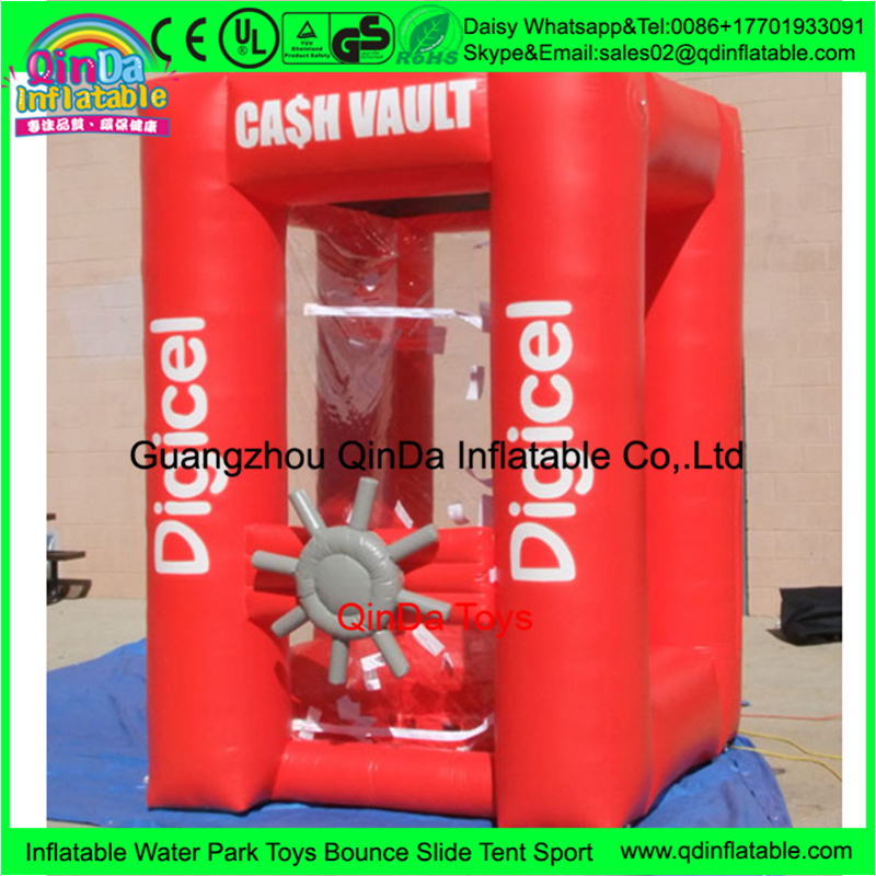 Money box Type Inflatable Cash Cube,inflatable cash machine /Money grabbing machine for sale
