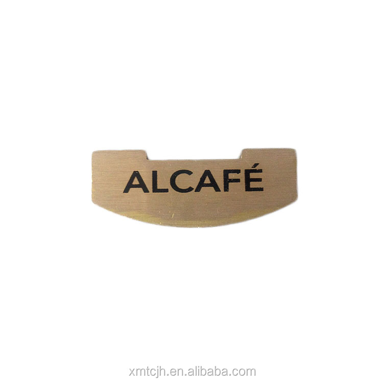 Custom Metal Brass Aluminum Logo Name Plate For Handbag