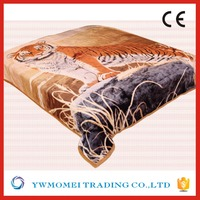 F23126 softextile blanket on the bed fabric coral fleece