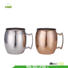 Single wall copper plated mug with handle -copper beer mug