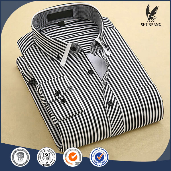 High quality luxury 100% cotton stripes men casual color plus branded shirts