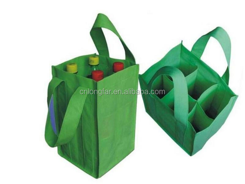 Good quality six bottles 6 bottle non-woven wine tote bag