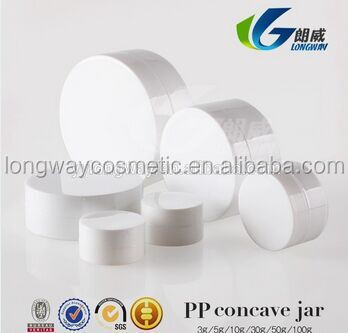 3g Plastic PP Concave Jar for Cosmetic Packaging Plastic Mini Container Sample Jar China Supply