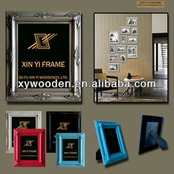 wood imitation photo frame