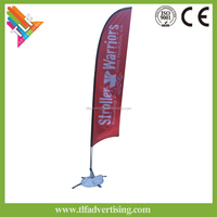 2016 china cheap custom wholesale angle street feather flag sign