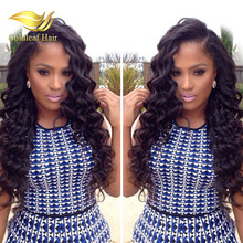 China wigs supplier wholesale 100% brazilian human hair big loose curl lace front wig