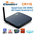 Factory price ! Cloudnetgo CR11S RK3188 quad core android tv box with HD Web Camera R89 TV BOX