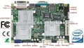 Fanless/ industrial motherboard support VGA+LVDS or VGA+TV-out display output