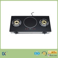 Hot Selling Crystal 3 Burner Eurokera Induction Cooktop with Gas Stoves
