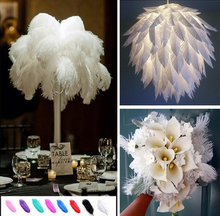 Romantic feather DIY accessories ostrich hair hotel window wedding table flower home decoration