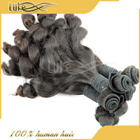 2014 New Arrival hot sale natural black high quality 6A cheap virgin Brazilian Chinese young girl fumi hair extensions