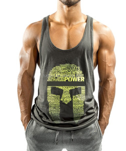 Custom Brand Logo Fitness Tank Top, Mens Gym Stringer Tank Top Vest For Fitness Club