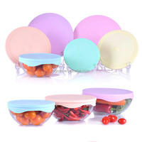 BPA FREE Reusable ,Durable, Heat Resistant ,Dishwasher, Microwave and Oven Safe Covers 12 Premium Silicone Stretch Lids