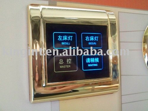 Hotel system, light switch, touch screen