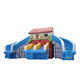 Mobile inflatable water slide water park equipment children inflatable slide floating toy on water