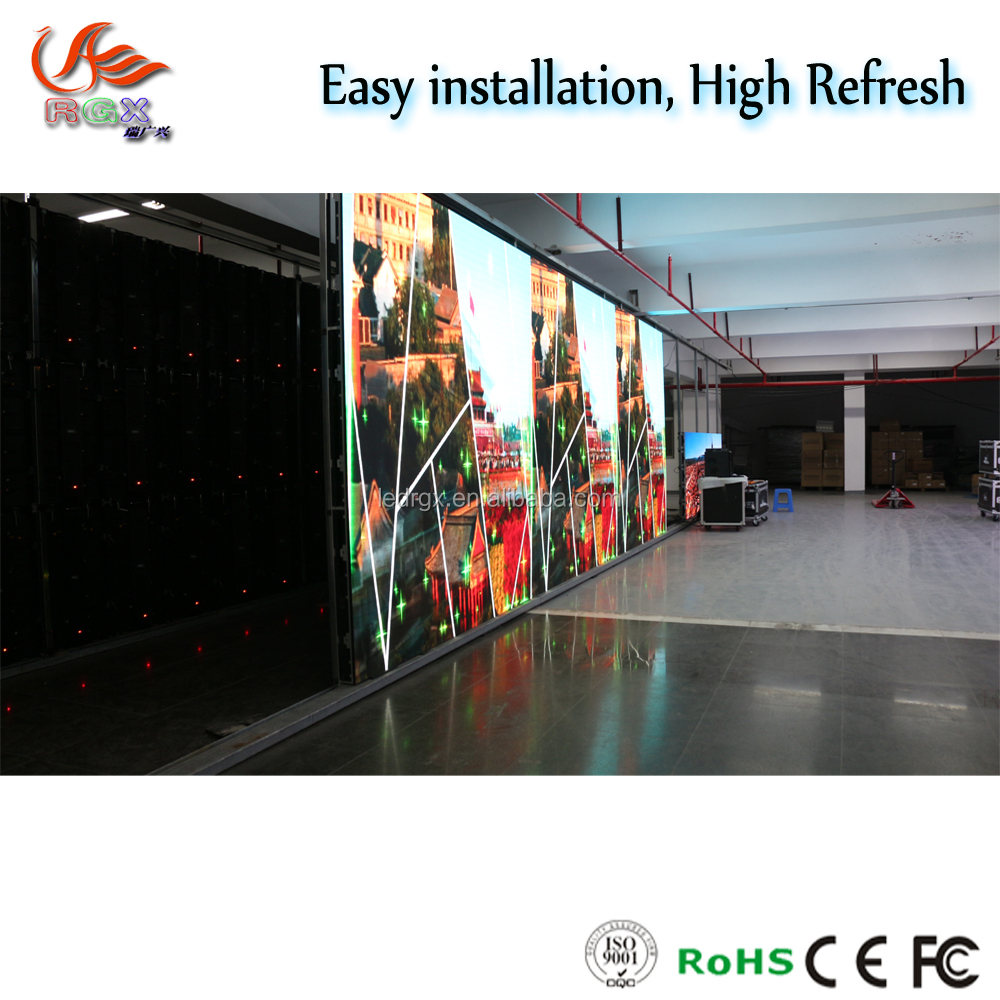 HD visual P3.91 LED Display with Die-casting Aluminum Cabinets 500*500mm/unit size