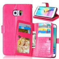 For Samsung Galaxy S6 Active Magnetic Flip PU Leather Wallet Case with Photo Frame Card Holder Stand fundas Mobile Phone Cover
