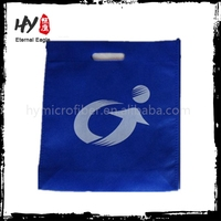 Laptop laminated shopping bag, promotional non woven pouch, nonwoven cheap drawstring bag