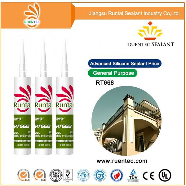 Rtv 100% Silicon Rubber Sealant Water Clear Silicone Sealant 280ml Bottles