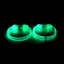 Free Sample Fashion LED Lighted Glow in the Dark Flashing Bracelet for Party/Festival/Dance/concert/camping/Bar/Game/Wedding