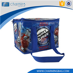 New coming custom design dark blue zipper frozen food cooler bag