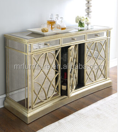 Wooden Mirrored Kitchen Buffet Cabinet Mr 4g0212 Buy French Mirrored Kitche
