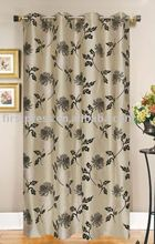 FAUX SILK FLOCKING CURTAIN