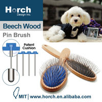 Tender touch pin and durable pin cushion pad pet product pin brush