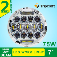 75w high low beam driving light DRL front light 7inch led headlight for j eep w rangler