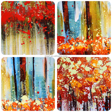Modern handmade beautiful scenery oil painting on canvas