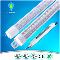 V-Shaped 4ft 5ft 6ft 8ft Cooler Door Led Tubes T8 Integrated Led Tubes Double Sides SMD2835 aquarium water cooler