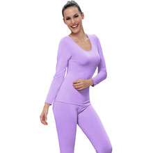 WuhouPro wholesale Women's Thermal Underwear Lady Fitness Clothes Underwear Set