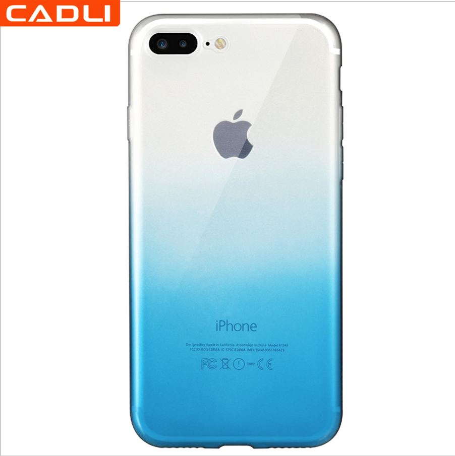 Best selling silicon tpu transparent mobile case for iPhone 6s case gradient