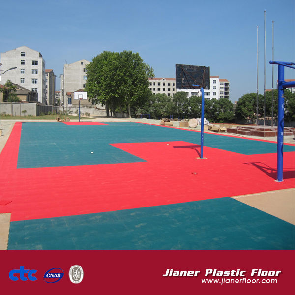 China Interlocking Portable Basketball Floor