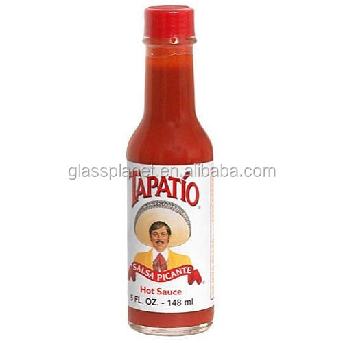 Hot Sauce Glass Woozy Bottle 5 oz