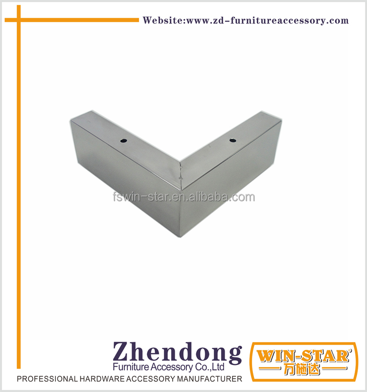 ZD-<strong>N009</strong>-F Stainless Steel Square Tube Sofa Legs Triangle Cabinet Feet