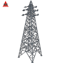 High Voltage Electric Power Angle Steel Transmission Tower