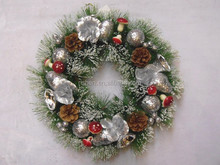10 inch christmas flower wreaths for christmas tree decoration christmas ornament