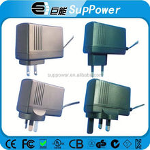 24W 24 w series power adapter for modem switching power supply with on-ff switch adapter with UL FCC SAA GS CB certificates