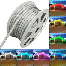 NEW 2016 White 2 Wire LED Rope Light rgb 110V Home Party Christmas Decorative In/Outdoor