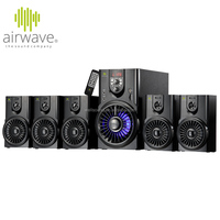 airwave 5.1 amplifier home theater sound system with USB/SD/FM/Led display/remote Control