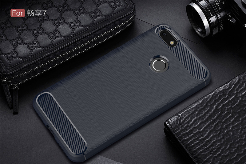 Wholesale Hybrid Carbon Fiber Rugged Armor Silicone Soft Mobile Phone Cover Case for H