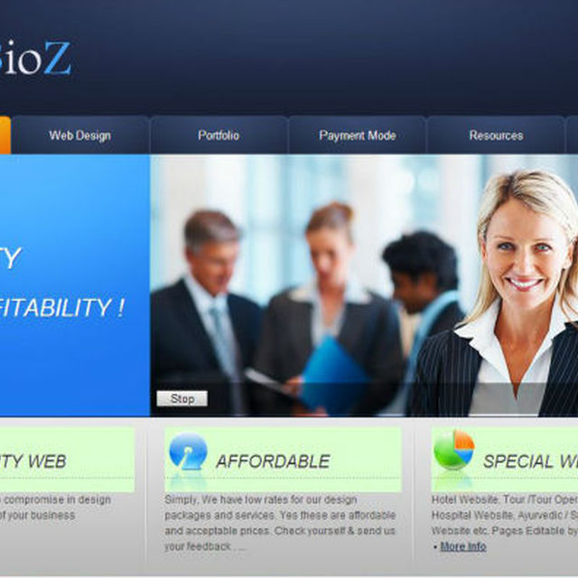 4 Pages Rich Dynamic CMS Web Design & Development with Flash Headers - USD 80