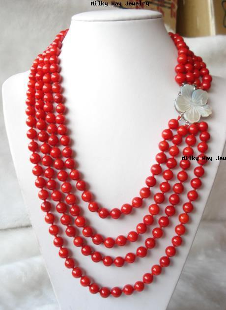 red tibetan turquoise coral necklace
