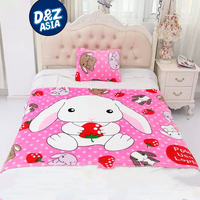 cute rabbit soft flannel blanket with cartoon bed blanket home life