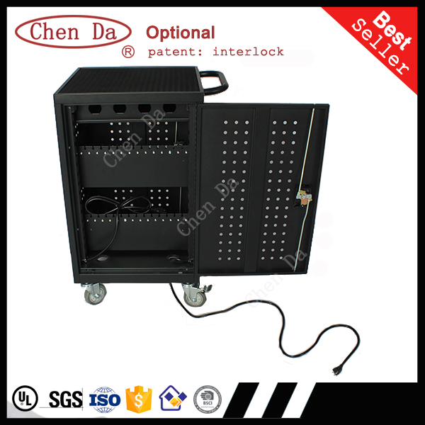 ChenDa 2016 new design computers laptop tablet storage and charging trolley