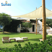 100% new HDPE plastic sun sail shade with UV resistant