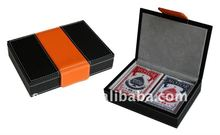 Leather Playing Card Set For 2 Playing Cards Holder